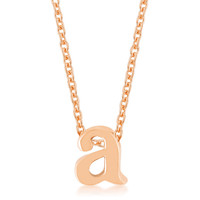 Rosegold Finish Initial A Pendant