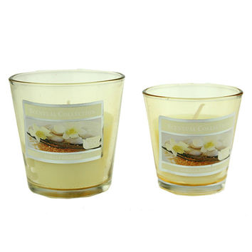 Glass Craft Wax Candles Cup Aromatherapy Velas Perfumadas Pillar Scented Wedding Candle Gift Candles Making Home Bougies Qqz35
