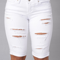 Caribbean Vacation Shorts - White