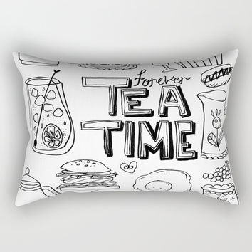 Forever Tea Time 1 Rectangular Pillow by Shashira Handmaker