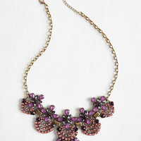 Vintage Inspired Hit the Town Stunning Necklace in Amethyst by ModCloth