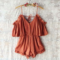 The Drifter Romper in Rust