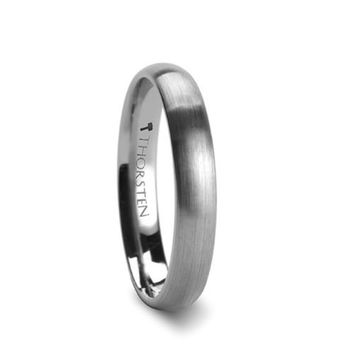 PERSEUS Brushed Finish Rounded Tungsten Carbide Ring - 4mm