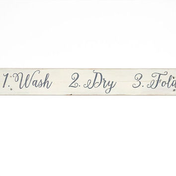 Laundry Room Sign - Distressed Wooden Sign - Rustic Wood Sign - Laundry Room Decor - Laundry Room Art - Wooden Laundry Sign - Hand Painted