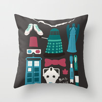 Doctor Who Throw Pillow by AbbieImagine