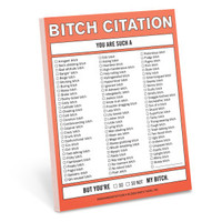 Bitch Citation Nifty Note by Knock Knock - knockknockstuff.com