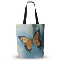 "Padgett Mason ""Summer Flutter"" Blue Orange Everything Tote Bag"