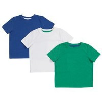 Clothing at Tesco | FF Pack of 3 solid colour t-shirts > tops & t-shirts > Younger boys (1-7years) >