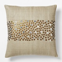 Sarah Campbell Embellished Stripe Pillow Cover