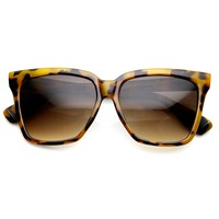 Large Oversized Square High Temple Horn Rimmed Sunglasses