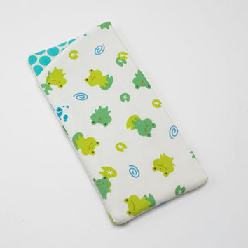 Sunglasses Case, Eyeglasses Case, Glasses Case in Cute Frog Fabric