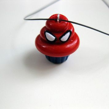 Spiderman Cupcake Pendant by TheBirdTheBee on Etsy