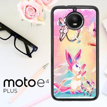 Pokemon Sylveon And Mew X3441 Motorola Moto E4 Plus Case