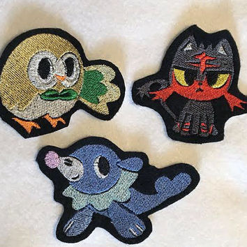 Alola Starter Patches (Choose One)