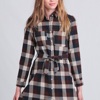 Canyon Lodging Plaid Shirt Dress
