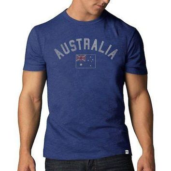 Licensed Sports Australia '47 Country Scrum Crew T-Shirt - Royal KO_20_2