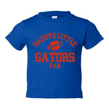 DADDYS LITTLE GATORS Fan Adorable Toddler Tshirt Or Creepers Great Florida Gators Tshirt Football Printed Tee