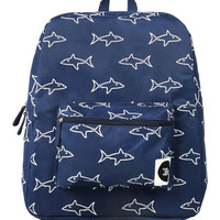 The WhitePepper Shark Canvas Backpack