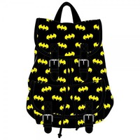Batman Logo Knapsack Backpack Book Bag DC Comics