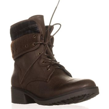 BareTraps Olympia Lace-up Ankle Boots, Dark Brown, 8 US