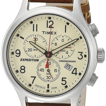 Timex Expedition Scout Chronograph Watch Brown/Natural