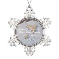 Season's Greetings From Us Polar Bear Ornament