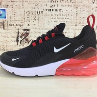 Nike Air Max 270 Black Red Sport Running Shoes - Best Online Sale