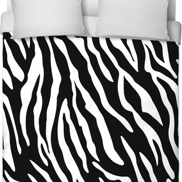 Tiger stripes pattern all-over-print duvet cover, wild life themed bedding