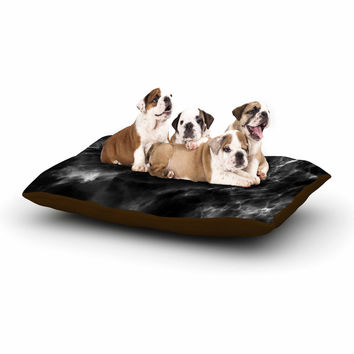 "Chelsea Victoria ""Black Marble"" Modern White Dog Bed"