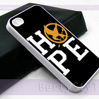 Iphone Case - Iphone 4 Case - Iphone 5 Case - Samsung s3 - samsung s4 - Hunger games hope quotes 2 - Photo Print on Hard Plastic