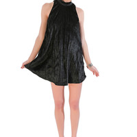Crushed Velvet Night Moves Dress