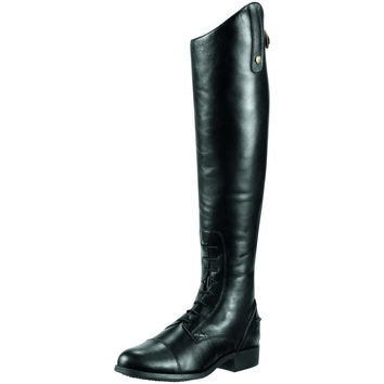 Ariat Womens Heritage Contour Field Zip Tall Boot - Tall Height Black