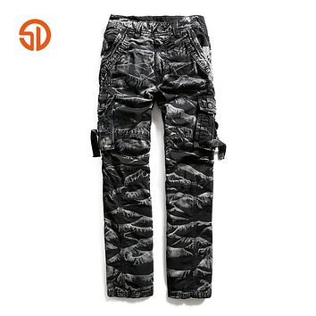 Pants for Man Straight Trousers Man Full Business Camouflage Army Simple Soft Spring Pants for Men