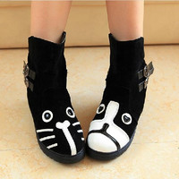 Women's Animal Ankle boots one cat/one dog US 5-8