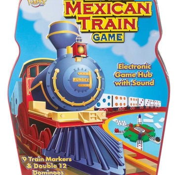Mexican Train Game with Double 12-Color Dominoes Set
