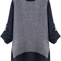 Dark Grey Long Sleeve Top