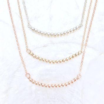 Tiny Bubbles Bar Necklace