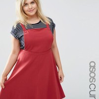 ASOS Curve | ASOS CURVE Jersey Basic Pinafore Dress at ASOS