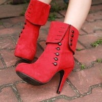 Flange rivet boots trend by mili on Sense of Fashion