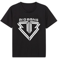 BIGBANG Triangle Graphic Print T-Shirt in Black