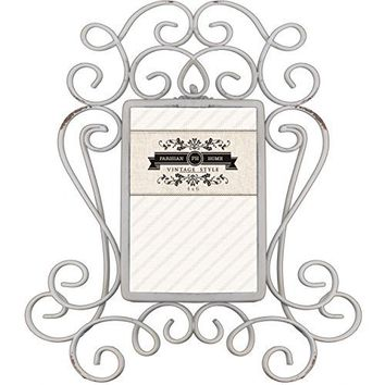 Home Accents Picture Frame / Photo Frame 4 x 6 (Distressed Ivory)