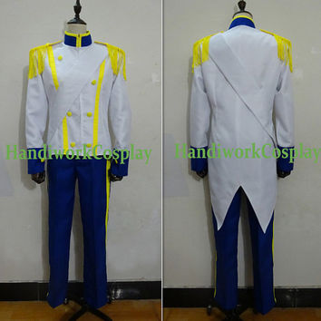 The Little Mermaid Prince Eric Costume,Prince Eric Wedding Edition Cosplay Costume Custom Any Size