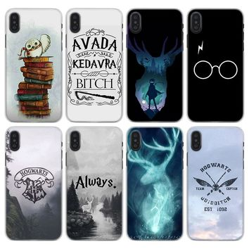 always Harry potter Pattern Transparent hard Phone Case for Apple iPhone X XS XR XS MAX 7 8 Plus 6 6s Plus SE 5S