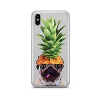 Pineapple Pug - Clear Case Cover