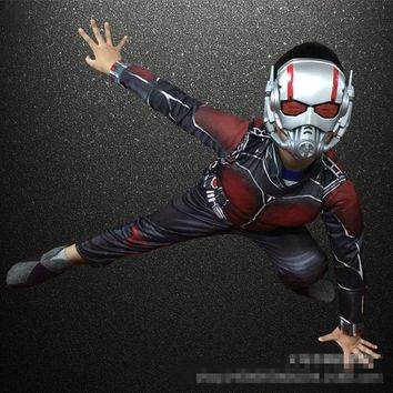 2018 new Child Boy Muscle Batman Ant Man Comic Superhero Movie Character Cosplay Fancy Dress Halloween Carnival Party Costumes