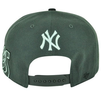 MLB '47 Brand New York Yank Yankees Big Time Flat Bill Snapback Baseball Hat Cap