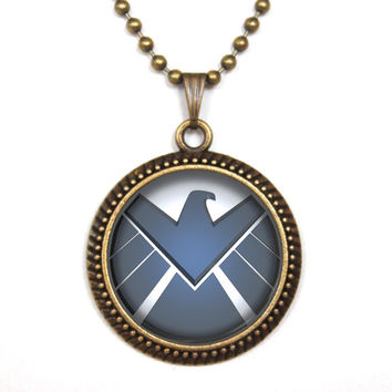Handmade Agents of shield Necklace S.H.I.E.L.D. , Agents of shield jewelry, shield Pendant charm, Agents of shield gift,friend gift Necklace