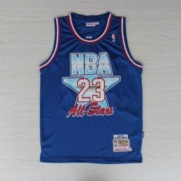 UCANUJ3V NWT #23 NBA Chicago Bulls 23 Michael Jordan Blue 1993 All Star Jersey Men