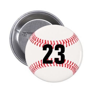 Make Your Own Jersey Number Baseball Button