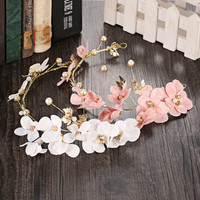 Floral Headwear Korean Hair Clip Beach Vacation Pastoral Style Hairband [9284022276]